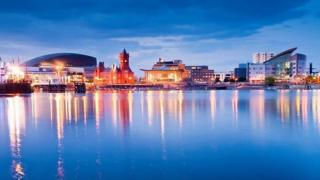 Cardiff Bay at night