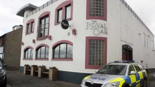 The attack happened at the Royal Oak bar in Carrickfergus