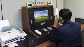 The communications hotline in Panmunjom