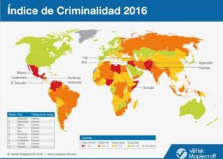 Mapa de índice de criminalidad