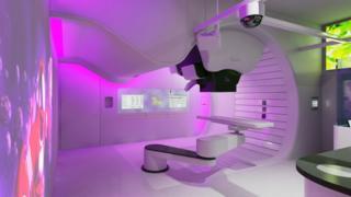 A proton therapy machine