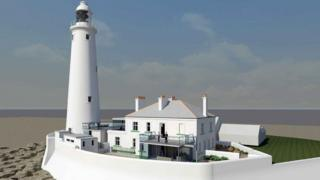 Artist's impression of the revamped Grade 11-listed lighthouse