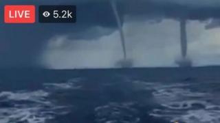 Un Facebook Live que decía mostrar un doble tornado del huracán Irma aproximándose a Florida era en realidad parte de un video grabado al menos en 2007.