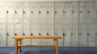 Lockers in a gym hanging room