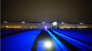 Solar Impulse II in Tulsa, Oklahoma, in the US, on 21 May, 2016