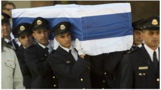 Le cercueil de Shimon Peres, Israël