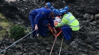 Boy rescued at Castlerock