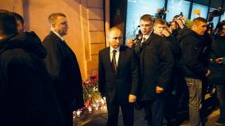 Путін приїзлив до місця, де стався теракт