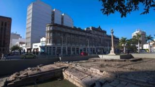 Le quai de Valongo à Rio où près d'un million d'esclaves a été débarqué a été découvert lors des travaux pour Rio 2016