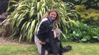 Lana Hempsall with dog