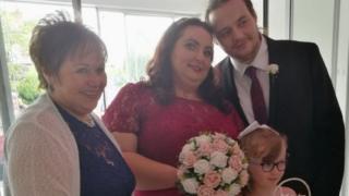 Gillian and Craig Kelly's wedding day at NI Hospice