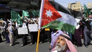Muslim Brotherhood rally in Amman (file photo)