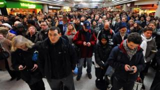 Delayed rail passengers