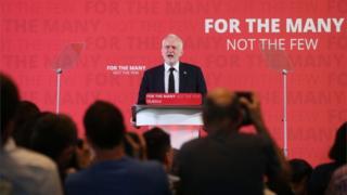 Jeremy Corbyn delivers speech in London