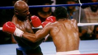 Hagler golpea a Leonard