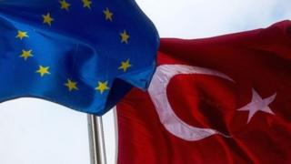 پرچم ترکیه و اتحادیه اروپا