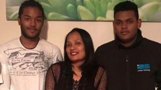 Mary Ragoobar and sons Shane and Sean
