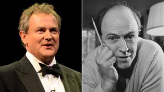 Hugh Bonneville and Roald Dahl