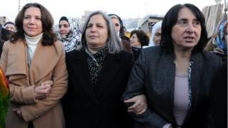 Selma Irmak, Gültan Kışanak ve Nursel Aydoğan.