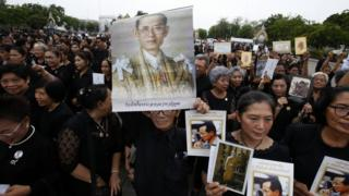 Thais mourn King Bhumibol who died last year and is hugely revered