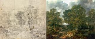 """Ескіз до картини і пейзаж """"Ліс Гейнсборо"""""""