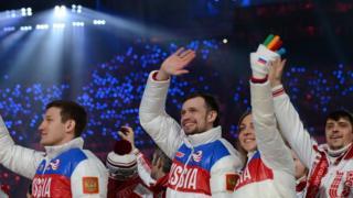 des athlètes russes aux JO 2414