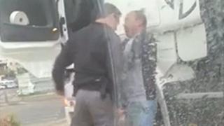 کتک زدن راننده کامیون فلسطینی
