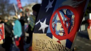 Акция протеста против Дональда Трампа
