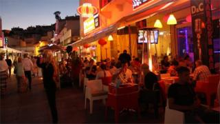 Cafes on the Algarve, Portugal