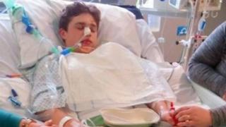Ben in hospital