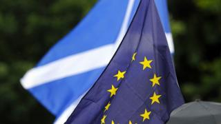Scottish and EU flag