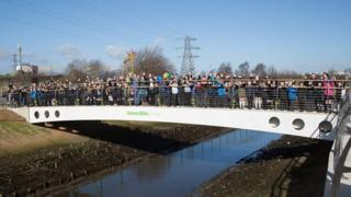 The opening ceremony for James Ellis Bridge