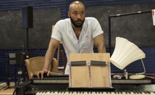 Arinze Kene in rehearsals