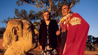 Prince Leonard in red robes and his late wife, Princess Shirley