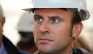 File pic of Emmanuel Macron