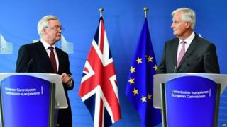 David Davis and also also also Michel Barnier