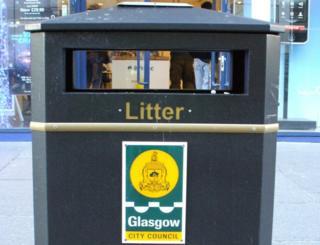 New-style litter bin