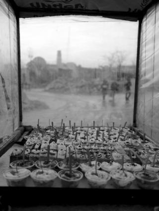 पूर्वी अलेप्पोमा बेच्न राखिएका कपकेक