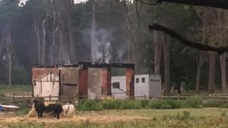 Stables fire