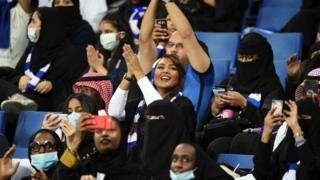 Saudi women for stadium