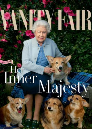 The Queen photographed with her four pet dogs