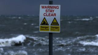Stormy seas near Ardrossan, North Ayrshire