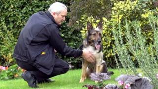 PC Dave Wardell and police dog Finn