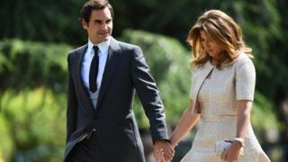 Роджер Федерер с женой