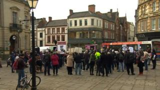Northampton protest