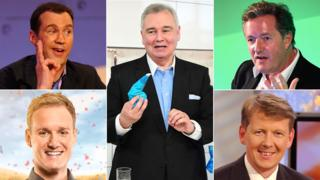 Clockwise from top left: Johnny Vaughan, Eamonn Holmes, Piers Morgan, Bill Turnbull, Dan Walker