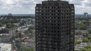 燃燒後的塔樓