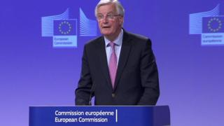 Michel Barnier said the UK must put a great deal of effort into issues such as Ireland in forthcoming talks