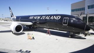 An Air New Zealand 787-9 Dreamliner