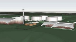 Artist's impression of the power plant